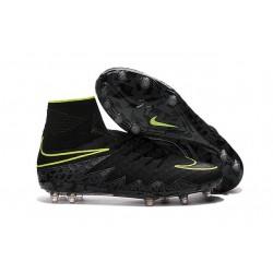 Nouvelles chaussures Nike HyperVenom Phantom II FG Football Crampons Noir Volt