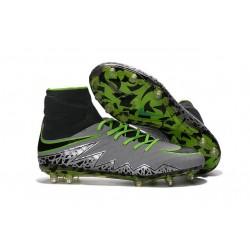 Hommes Nike HyperVenom Phantom II FG Chaussures de football ACC Platine Noir Vert
