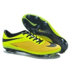 Coupe du monde 2014 Crampons Nike Hypervenom Phantom FG Orange Jaune Noir