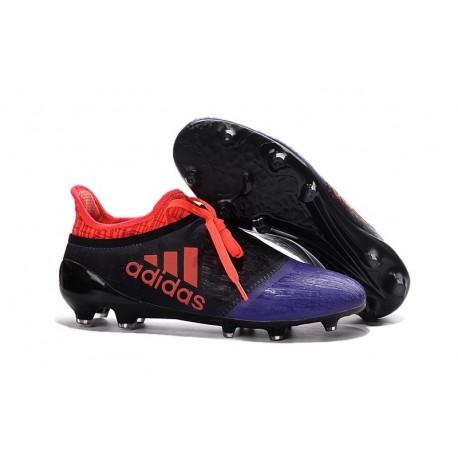 2016 Adidas X 16+ Purechaos FG/AG pour Homme Noir Violet Orange