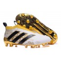 2016 Adidas Ace16+ Purecontrol FG/AG Chaussures de Football Stellar Pack Noir Blanc Or