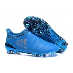 2016 Adidas X 16+ Purechaos FG/AG pour Homme Argenté Bleu