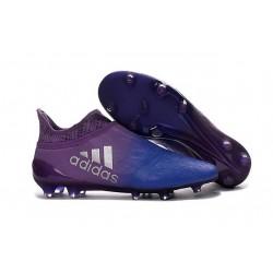 2016 Adidas X 16+ Purechaos FG/AG pour Homme Violet Bleu Argenté