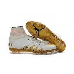 Hommes Nike HyperVenom Phantom II FG Chaussures de football ACC Neymar x Jordan Blanc Or