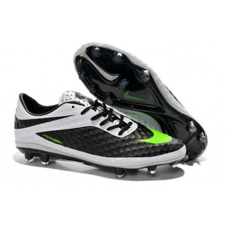Nouvelle Chaussure Homme Nike Hypervenom Phantom FG Noir Blanc Vert
