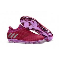 Adidas Messi 16+ Pureagility FG/AG Pas Cher Crampons foot Rouge Violet Argenté