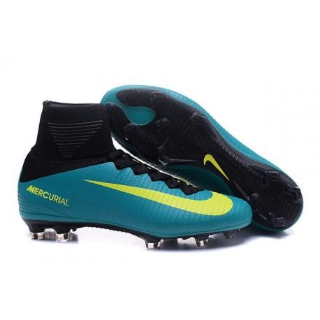 2016 Nouveau Chaussures de Football Mercurial Superfly V FG Vert Jaune Noir