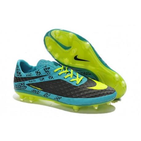 Coupe du Monde 2014 Crampons Nike Hypervenom Phantom FG Bleu Noir Jaune Pack de Réflexion