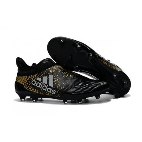 2016 Adidas X 16+ Purechaos FG/AG pour Homme Noir Or