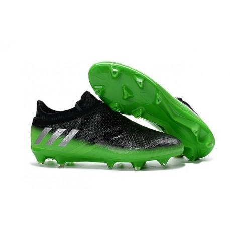 Nouvelles - Crampons Adidas Messi 16+ Pureagility FG/AG Gris Foncé Argent Vert