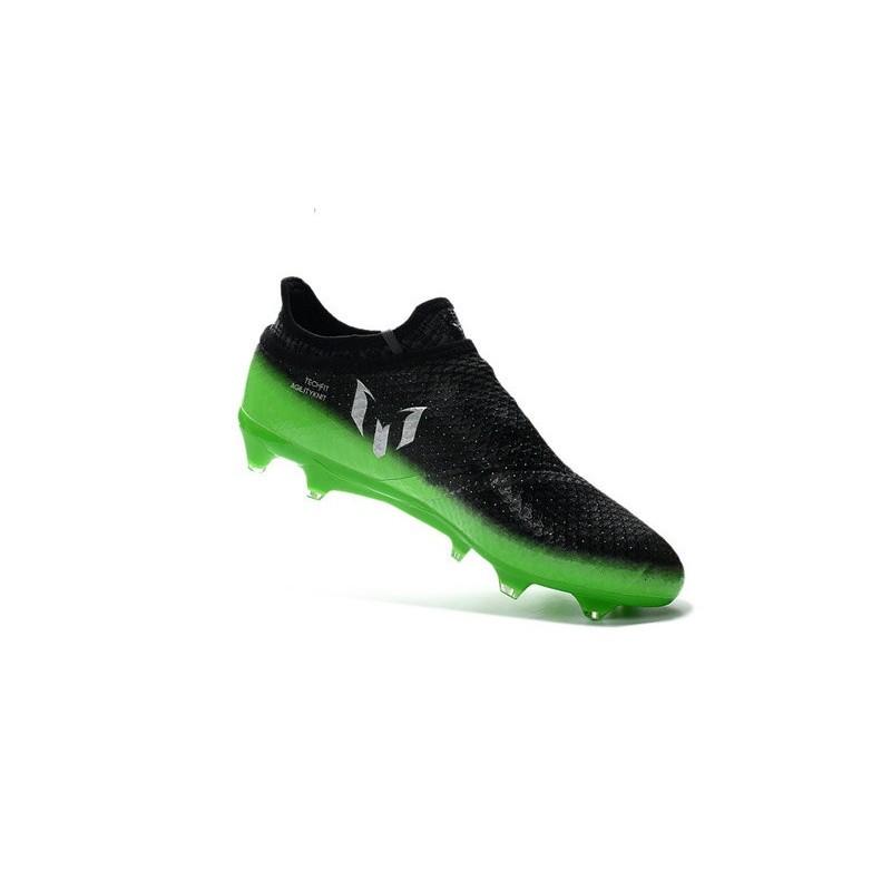 best sneakers ec221 329c8 ... czech nouvelles crampons adidas messi 16 pureagility fg ag gris foncé  argent vert 9083c 6e2ed