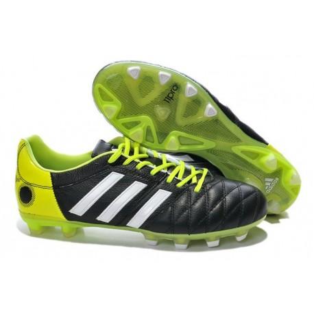 2014 Chaussure Adidas 11Pro Trx Fg pour Homme Noir Blanc Vert