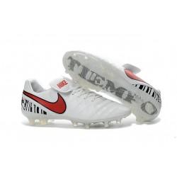 Nouveau Nike Crampons de Football Tiempo Legend VI FG Blanc Rouge
