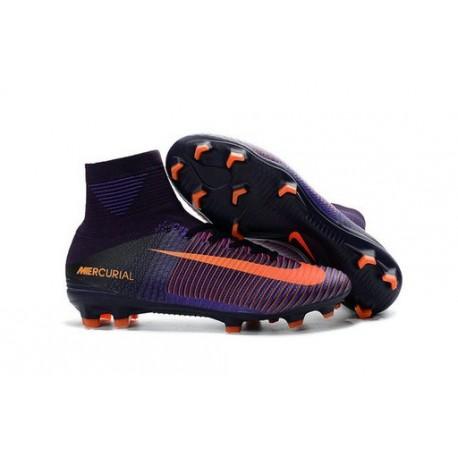 2016 Nouveau Chaussures de Football Mercurial Superfly V FG Violet Dynastie Citrus Hyper Violet