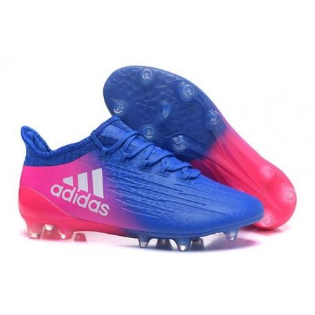 Nouvelles - Crampons pour Homme Adidas X 16.1 AG/FG Bleu Rose Blanc
