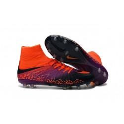 Nouvelles chaussures Nike HyperVenom Phantom II FG Football Crampons Carmin Obsidienne Violet