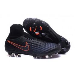 2016 Crampons foot Nike Magista Obra II FG Noir Carmin