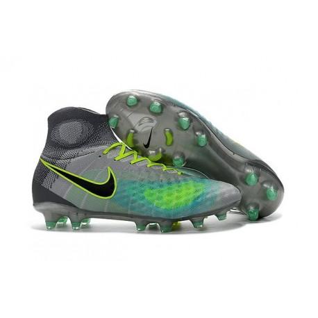 2016 Crampons foot Nike Magista Obra II FG Platine Noir Vert