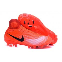 2016 Crampons foot Nike Magista Obra II FG Orange Noir