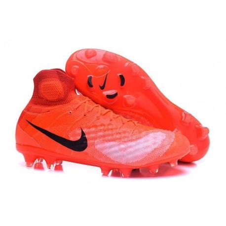 2016 Crampons foot Nike Magista Obra II FG Orange Noir