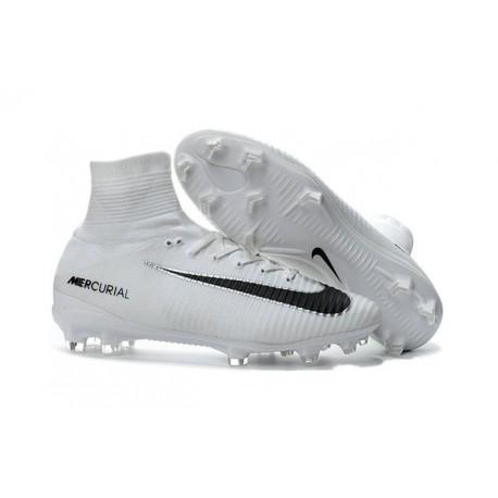 2016 Nouveau Chaussures de Football Mercurial Superfly V FG Blanc Noir