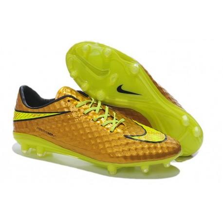 Nouvelle Chaussure Neymar Premium Nike Hypervenom Phantom FG Or Jaune
