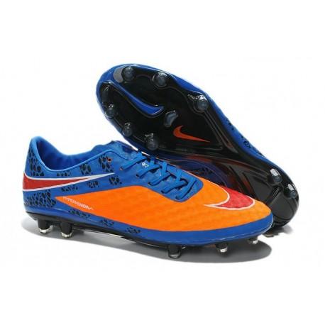 2014/2015 Nike Hypervenom Phantom FG Homme Bleu Orange Pack de Réflexion