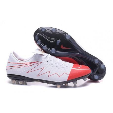 Nike HyperVenom Phinish II Chaussures De Football Wayne Rooney Blanc Rouge Noir