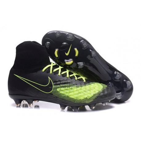Hommes Nike Nike Magista Obra II FG Chaussures de football Noir Volt