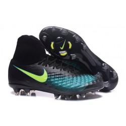 Nouvelles chaussures Nike Magista Obra II FG Football Crampons Noir Bleu Vert