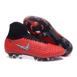 Hommes Nike - Nike Magista Obra II FG Chaussures de football Rouge Noir