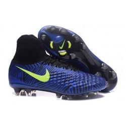 Nouvelles chaussures Nike Magista Obra II FG Football Crampons Bleu Noir Volt