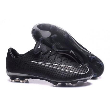 Nouvelles Nike Mercurial Vapor 11 FG Crampons de Football pour Hommes Noir Blanc