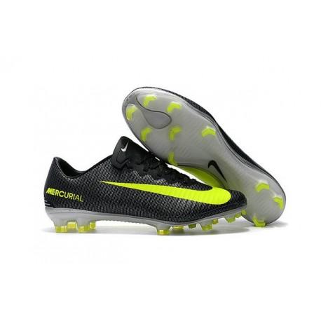 Nouvelles Nike Mercurial Vapor 11 FG Crampons de Football pour Hommes CR7 Algue Volt Hasta Blanc