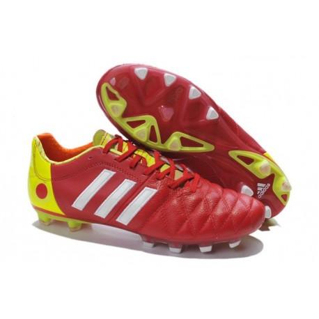 Chaussures De Foot Adidas Adipure 11Pro TRX FG Rouge Blanc Jaune