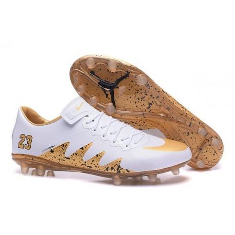 Nike HyperVenom Phinish II Chaussures De Football Jordan Blanc Or