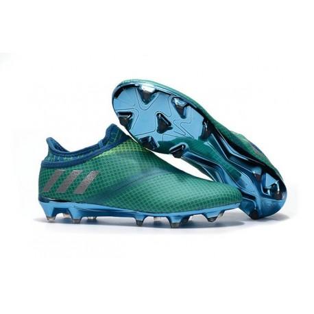 Nouvelles - Crampons Adidas Messi 16+ Pureagility FG/AG Vert Bleu Argent