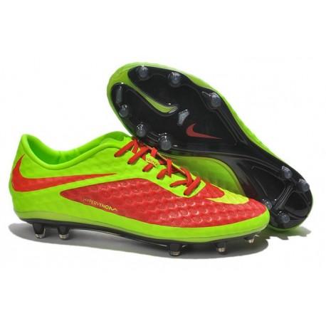 2014/2015 Chaussure de Football Nike Hypervenom Phantom FG Rouge Vert Jaune