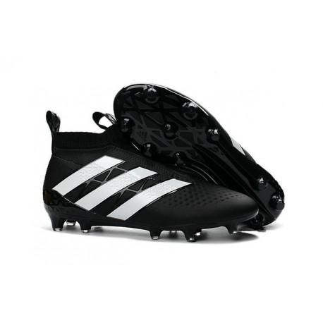 Nouveau Adidas Ace16+ Purecontrol FG/AG Chaussures de Football Noir Blanc