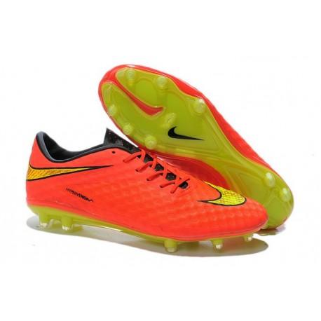 Nouvelle Chaussure Homme Nike Hypervenom Phantom FG Orange Jaune