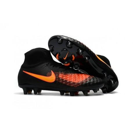 Nouvelles Crampons foot Nike Magista Obra II FG Noir Orange