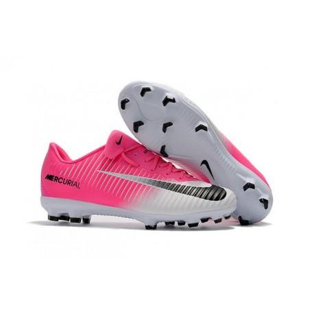 Nike Mercurial Vapor XI Tech Craft FG Chaussures De Foot 2017 Rose Blanc Noir