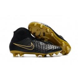 Crampons De Foot Nike Magista Obra II FG Or Noir