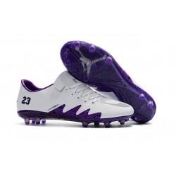 Nike HyperVenom Phinish II Chaussures De Football Violet Blanc
