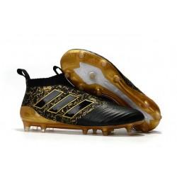 Nouveau Adidas Ace17+ Purecontrol FG Chaussures de Football Paul Pogba Capsule Or Noir