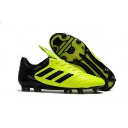 Chaussures de Foot Pas Cher Adidas Copa 17+ FG Jaune Noir