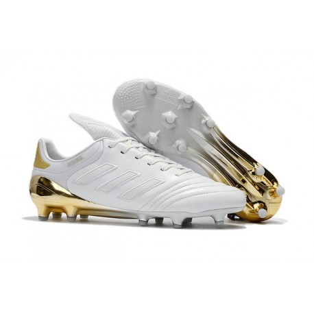 Chaussures de Foot Pas Cher Adidas Copa 17+ FG Or Blanc