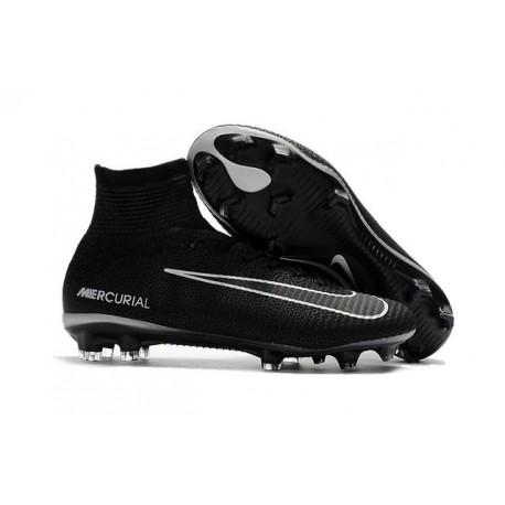 Chaussures de Foot Nike Mercurial Superfly V FG Noir Gris