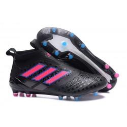 Nouveau Adidas ACE 17+ Purecontrol FG Chaussure de Foot Noir Rose Bleu