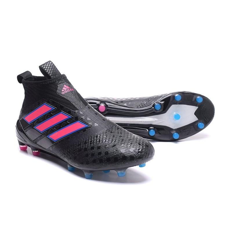 newest 171f9 dfcd0 ... Nouveau Adidas ACE 17+ Purecontrol FG Chaussure de Foot Noir Rose Bleu  ...